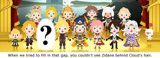 Maybe Tidus can step to the back row?