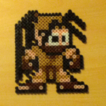 Ibuki in the style of Mega Man (Street Fighter)