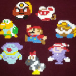 8-bit cast (Paper Mario: The Thousand Year Door)
